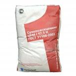 Цемент Сухоложский ЦЕМ I 42,5Н, (ПЦ500-Д0), мешок, Салехард