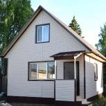 Двухэтажный дачный каркасный дом 5,5 м х 5,5 м за месяц., Салехард
